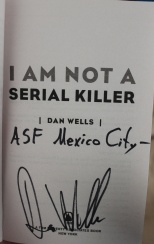 dan wells autographed page