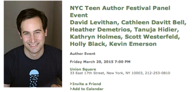 Scott Westerfeld and more in New York